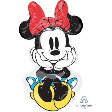 Balão Foil  SuperShape Minnie Mouse Rock the Dots