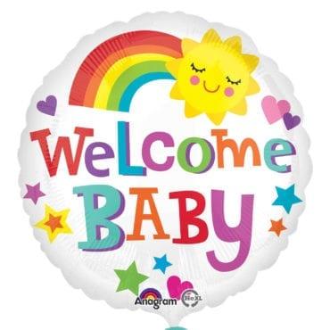 "Balão Foil Standard ""Welcome Baby Bright & Bold"""