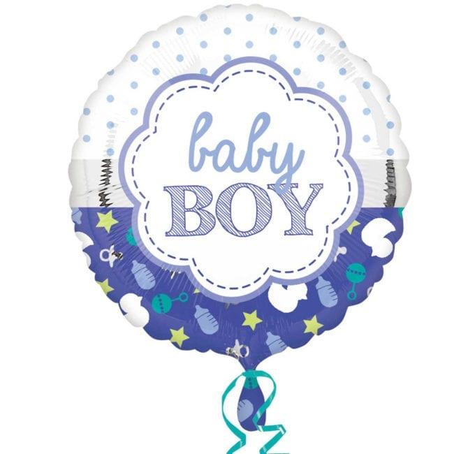 Balão Foil  Baby Boy Azul
