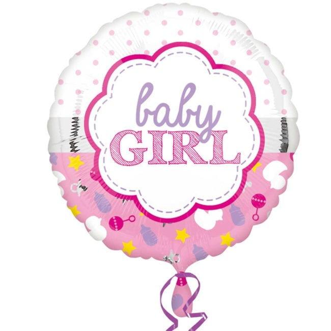 Balão Foil  Baby Girl Rosa