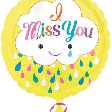 """Balão Foil  Nuvem """"Miss you"""""""