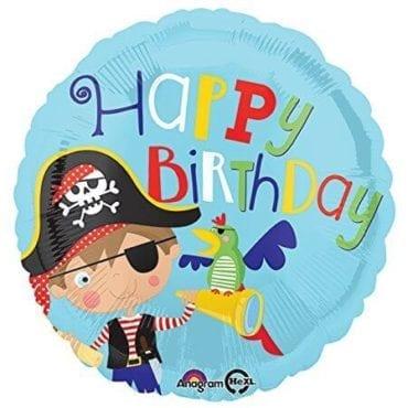 Balão Foil  Happy Birthday Pirata