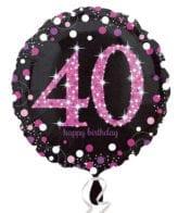 Balão Foil Standard Celebration Preto & Rosa - 40