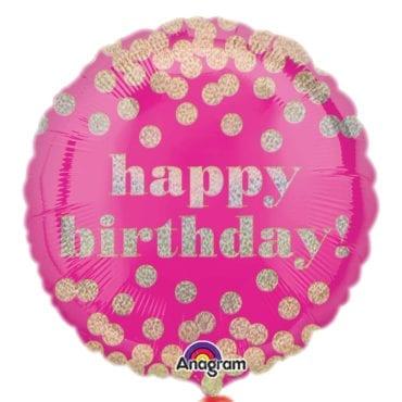 Balão Foil  Happy Birthday Holográfico