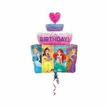 Balão Foil SuperShape Bolo de Aniversário Princesas Disney