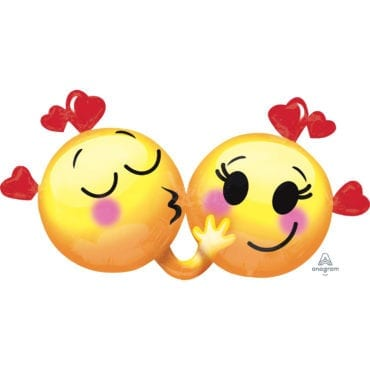 Balão Foil SuperShape Emojis Love