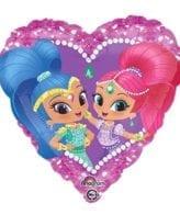 Balão Foil  Coração Shimmer & Shine