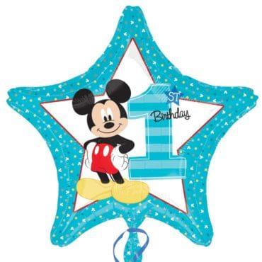 Balão Foil  Mickey 1st Birthday