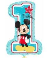 Balão Foil SuperShape Mickey 1st