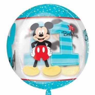 Balão Foil Orbz Mickey 1st Birthday