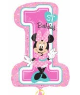 Balão Foil SuperShape Minnie 1st
