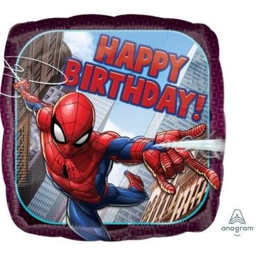 Balão Foil  Happy Birthday Spiderman