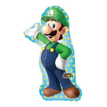 Balão Foil  SuperShape Super Mario - Luigi