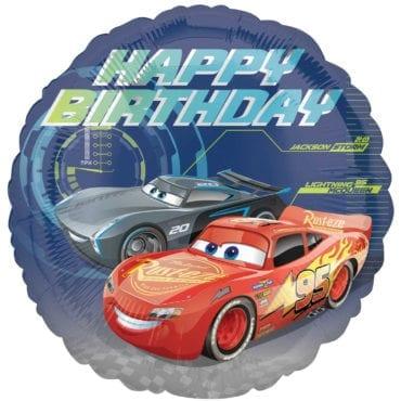 Balão Foil  Happy Birthday Cars