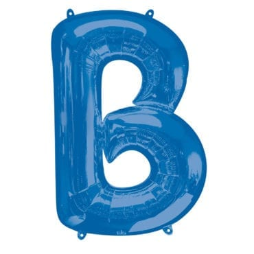 Balão Foil 86cm Azul Letra B