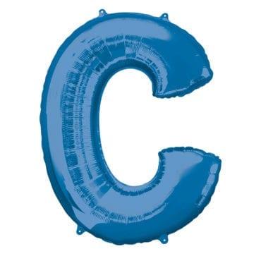 Balão Foil 86cm Azul Letra C
