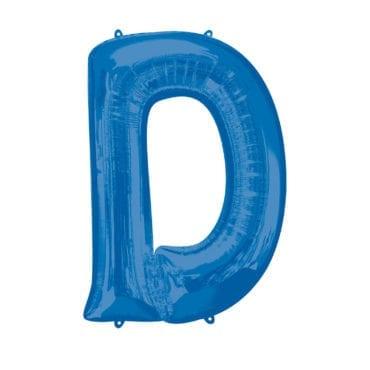 Balão Foil 86cm Azul Letra D