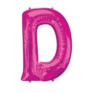 Balão Foil 86cm Rosa Letra D