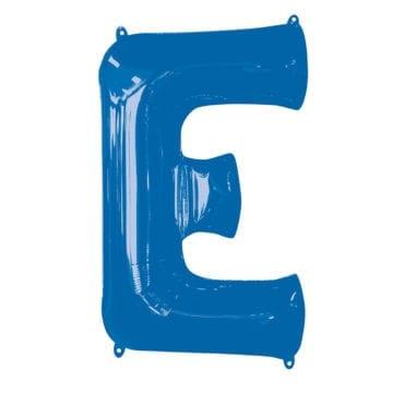 Balão Foil 86cm Azul Letra E