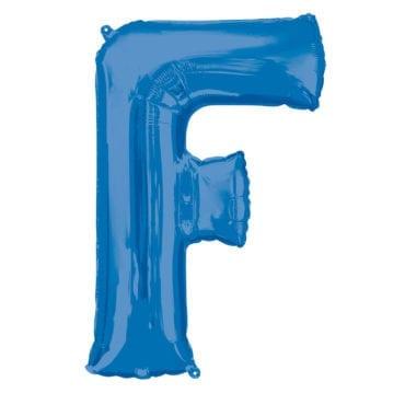 Balão Foil 86cm Azul Letra F