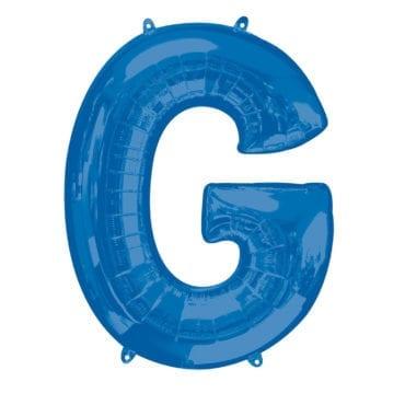 Balão Foil 86cm Azul Letra G