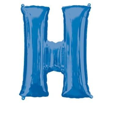 Balão Foil 86cm Azul Letra H