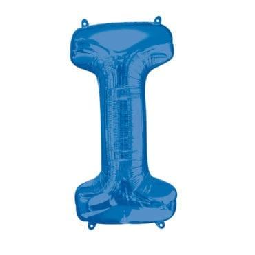 Balão Foil 86cm Azul Letra I