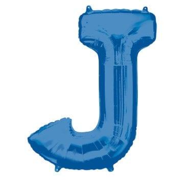 Balão Foil 86cm Azul Letra J