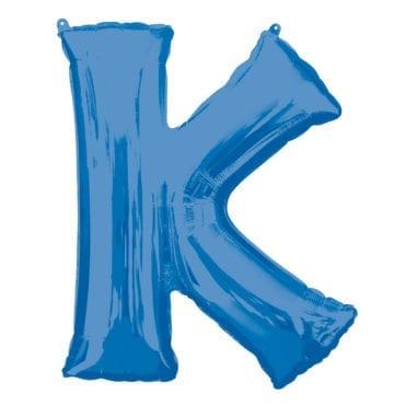 Balão Foil 86cm Azul Letra K