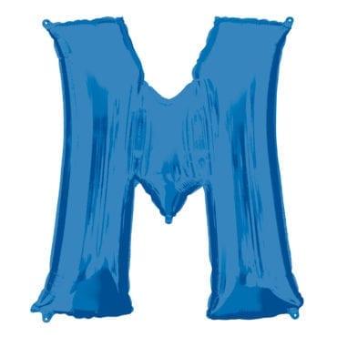 Balão Foil 86cm Azul Letra M