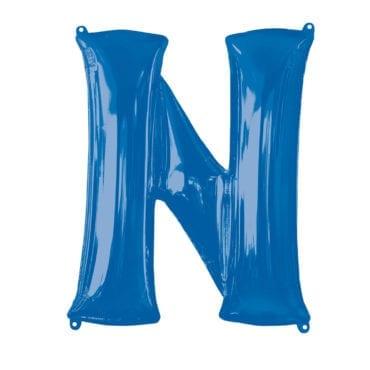 Balão Foil 86cm Azul Letra N