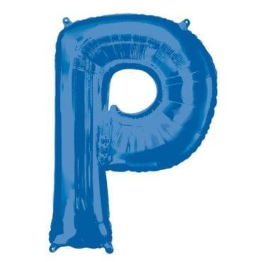 Balão Foil 86cm Azul Letra P