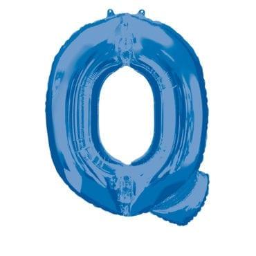 Balão Foil 86cm Azul Letra Q
