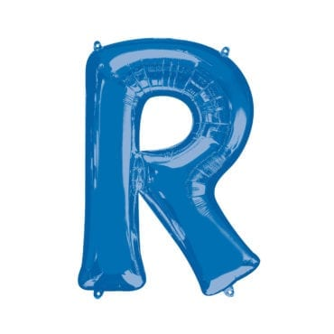 Balão Foil 86cm Azul Letra R