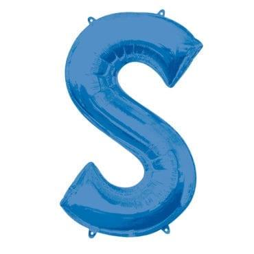 Balão Foil 86cm Azul Letra S