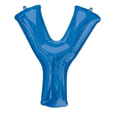 Balão Foil 86cm Azul Letra Y