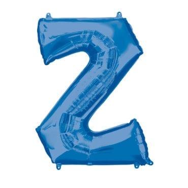 Balão Foil 86cm Azul Letra Z