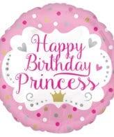 Balão Foil  Happy Birthday Princess