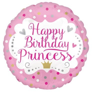 Balão Foil  Happy Birthday Princess