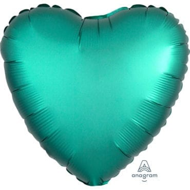 Balão Foil  Mate Coração Verde Escuro