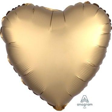 Balão Foil  Mate Coração Dourado
