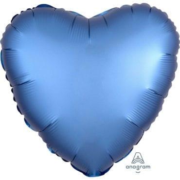 Balão Foil  Mate Coração Azul Royal