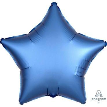 Balão Foil  Mate Estrela Azul Royal