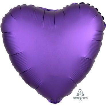 Balão Foil  Mate Coração Roxo