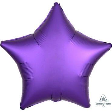 Balão Foil  Mate Estrela Roxo