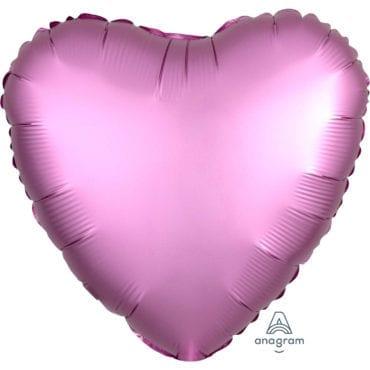 Balão Foil  Mate Coração Rosa Claro