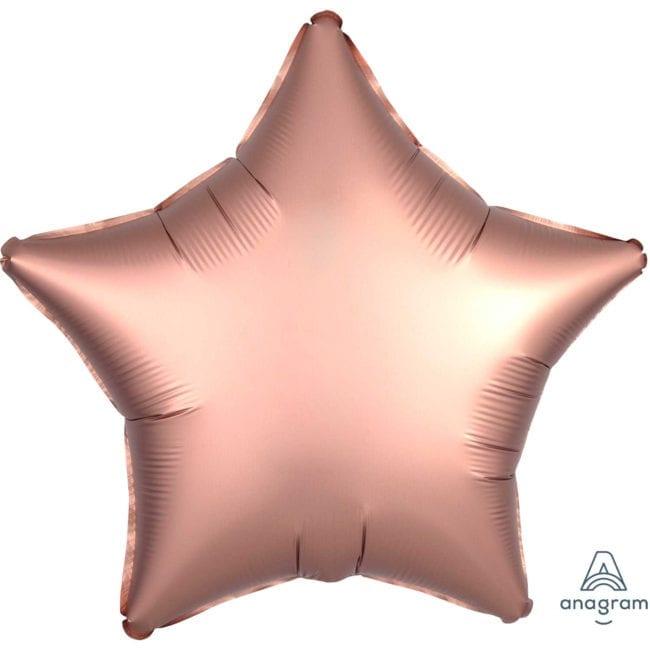 Balão Foil  Mate Estrela Rose Gold