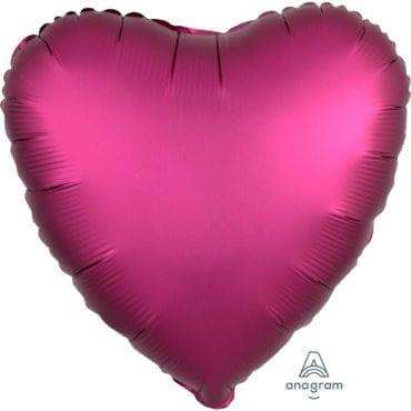 Balão Foil  Mate Coração Rosa Choque