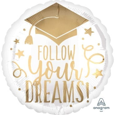 Balão Foil  Graduação - Follow Your Dream
