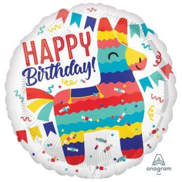 Balão Foil  Happy Birthday Lama